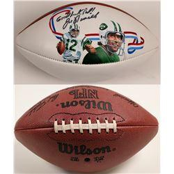 Wilson Football Autographed By Joe Namath  104611