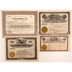 Siskiyou an Trinity County Stock Certificates  105896