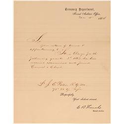 1864 Letter Re: Return of Arms, Civil War  104533