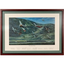 """""""Duel of the Titans"""" lithographic print by Rick Ruhman  106449"""