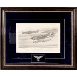 A charcoal litho. Norway Patrol by artist Robert Bailey  106446