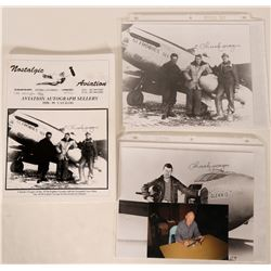 Ace, Charles Yeager, 357th Fighter Group, Autographed Photographs & Nostalgic Aviation Catalog (3+ I