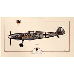 Aviation Framed Print  DlETRICH HRABAK'S MESSERSCHMITT Bf 109 F-2  108976