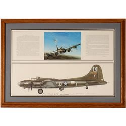 "B-17 F ""Just-A-Snappin"" bomber art signed print  108552"
