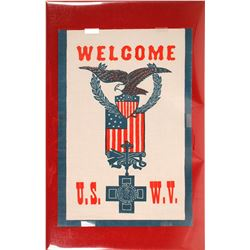 Banner Welcoming U.S. Veterans of Spanish American War  59609
