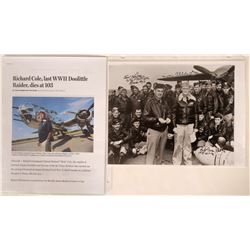 Doolittle Raiders 8 X 10 Black & White Photograph Signed by Three Crew Members with Certificate of A