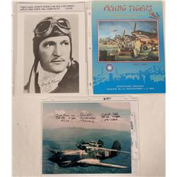 Flying Tigers American Volunteer Group Chinese Air Force Reunion Program and Two Photographs, all Au