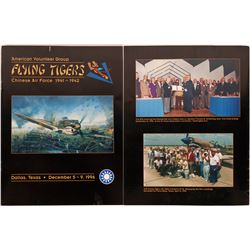 Flying Tigers American Volunteer Group Chinese Air Force Reunion Program with 20 Pilot's Autographs