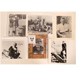 Foreign Aviation Aces Blk & Wht Autographed Photographs (6 Items)  108089