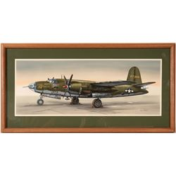 Hell Cat B-26 Bomber Drawing by Don Greer  109509