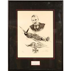 Lt. General Adolf Galland Drawing by Lonnie Ortega  109506