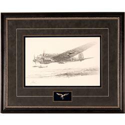 Original Drawing of a German Aircraft by Robert Bailey  108554