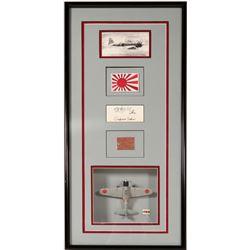 Shadowbox of Sapuro Sakai plane piece by Lonnie Ortega  108427