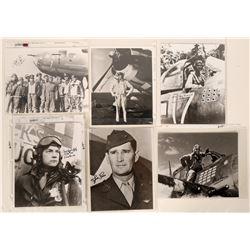 WWII Aviation Aces 8 X 10 Autographed Blk & Wht Photographs (7 Photos)  109010