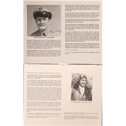 WWII Aviation Aces Photo Biographies with 23 Autographs (38 Photo Bios Total)  108280