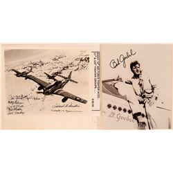 WWII United States Air Force Ace Fighter Pilot, Lieutenant Robert Goebel, Autographed 8 X 10 Blk & W