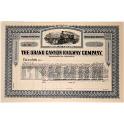 Grand Canyon Railway Company Stock Certificate  107542