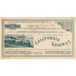 California Railway Stock Certificate  106862