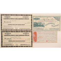 San Francisco / Bay Area Railroad Stock Certificates (4)  106881