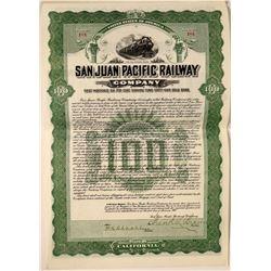 San Juan Pacific Railway Company Bond  107451