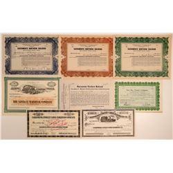 California Railroad Stock Certificate Collection (8)  106871