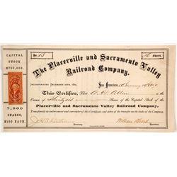 Placeville & Sacramento Valley Railroad Co. Stocks  83741