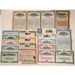 Western Pacific Railroad Co. Stock & Bond Collection (21)  106868