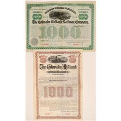 Colorado Midland Railway Company Specimen Bonds (2)  106886
