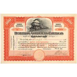 Bullfrog Goldfield Railroad Company Stock Certificate  106870
