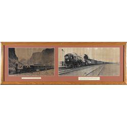 2 Framed Wadsworth, NV Train Photos  87662