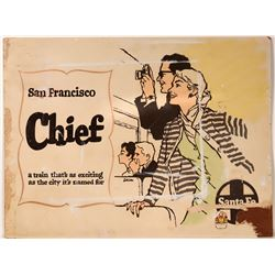 "Railroad Advertising  Sign / "" San Francisco Chief ""  109639"