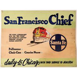 "Railroad Advertising  Sign / "" San Francisco Chief ""  109636"