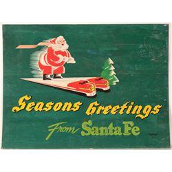 "Railroad Advertising  Sign / "" Seasons Greetings""  109635"