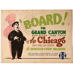 "Railroad Advertising Sign / "" The Grand Canyon Train""  109633"