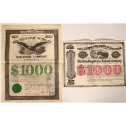 Two Different Broadway Surface Railroad Company Bonds  107602