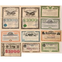 10 Different New York Railroad Stock Certificates & Bonds  107488