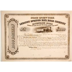 Lebanon Springs Rail Road Co Mortgage bond  83829