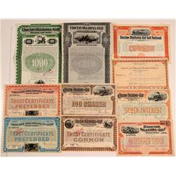 Choctaw, Oklahoma & Gulf Railroad Co. Stocks & Bonds (10)  106867