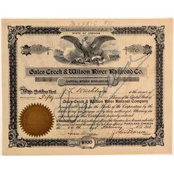 Gales Creek & Wilson River Railroad Co. Stock Certificate  106759