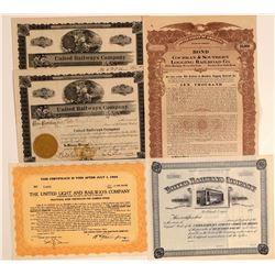Oregon Logging Railroad Stock Certificates  106753
