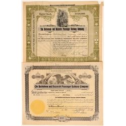 Bethlehem & Nazareth Passenger Railway Co. Stock Certificates  106897