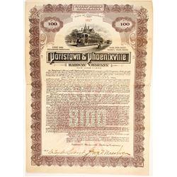 Pottstown & Phoenixville Railway bonds  83802