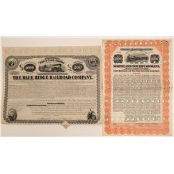 Two Carolina Railroad Company Bonds  107409