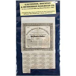 Certificate of Obligation-Galveston, Houston & Henderson Railroad Co  64216