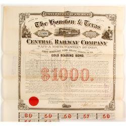 Houston & Texas Central RR Co.bond  83743