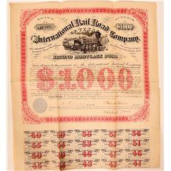 International Railroad Company of Texas Bond  107486
