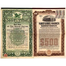 Two Different Salt Lake City Railroad Bonds  106751