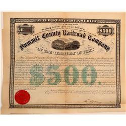 Summit County Railroad Company $500 Bond  106688