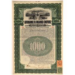 Spokane & Inland Empire Railroad Company Bond  106754