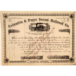 Columbia & Puget Sound Railroad Company Stock Certificate  106756
